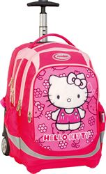 Picture of HELLO KITTY rolling school backpack