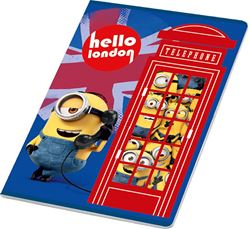Picture of MINIONS A4 notebook - lined paper