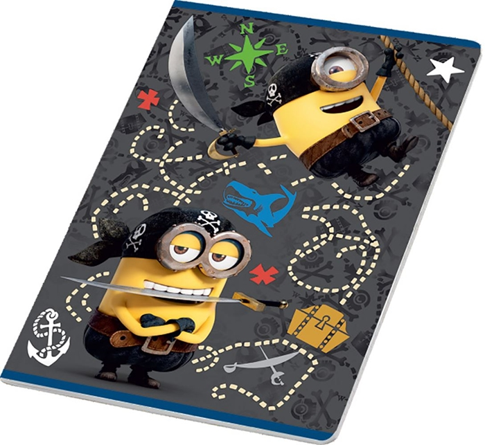 Picture of MINIONS A4 notebook grid paper 1-12