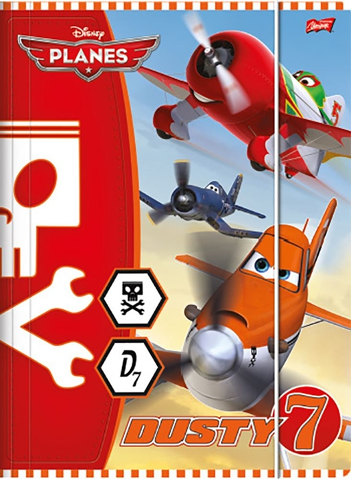 Picture of DISNEY PLANES folder A4 with rubber