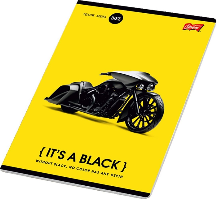 Picture of IT'S A BLACK A4 notebook line paper 1-12