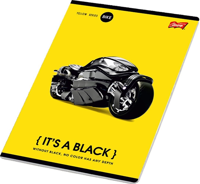 Picture of IT'S A BLACK A4 notebook plain paper 1-12