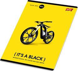 Slika od IT'S A BLACK bilježnica A4 čista 1-12