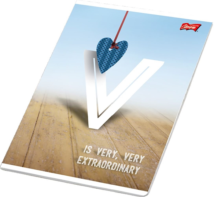 Picture of LOVE A4 notebook line paper 1-12