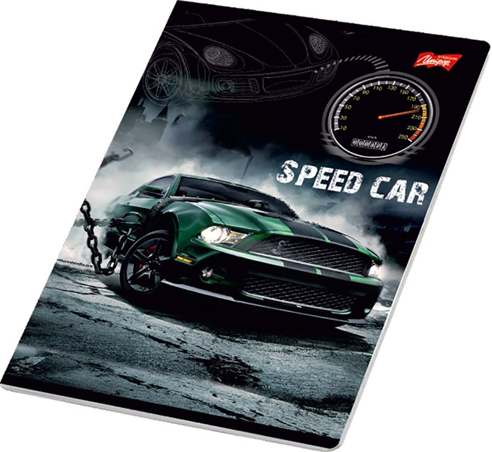 Picture of SPEED CAR A4 notebook plain paper 1-12