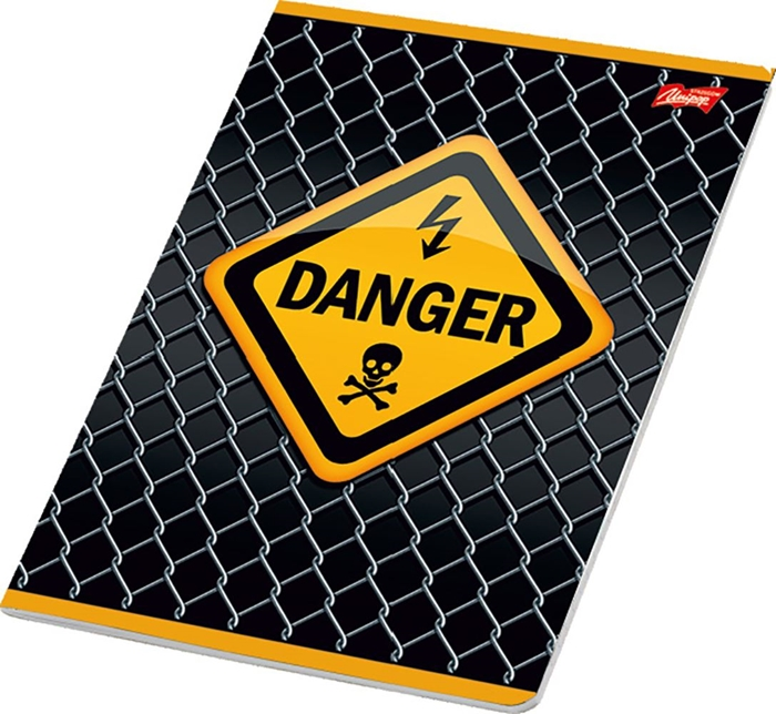 Picture of WARNING A4 notebook line paper 1-12