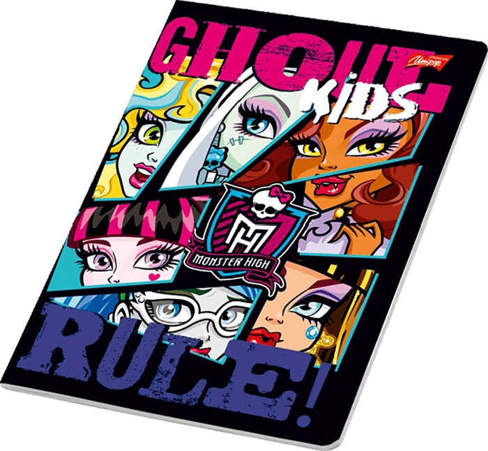 Picture of MONSTER HIGH A4 notebook grid paper 1-12
