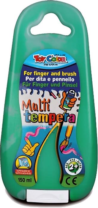 Slika od TOY COLOR tempera za prste i kist 150 ml - zelena