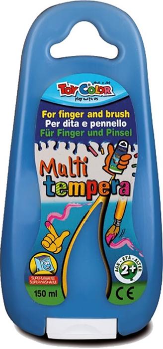 Slika od TOY COLOR tempera za prste i kist 150 ml - plava