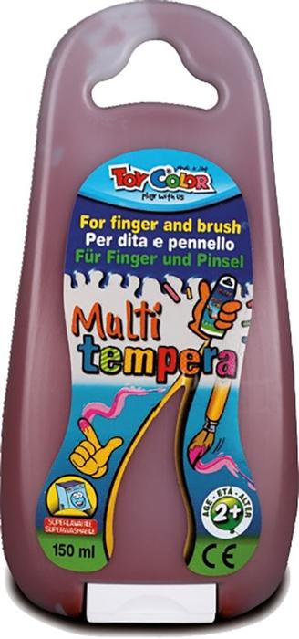 Slika od TOY COLOR tempera za prste i kist 150 ml - smeđa
