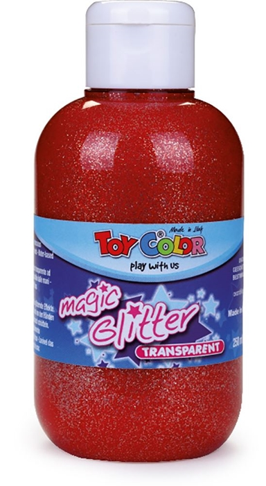 Picture of TOY COLOR glitter color 250 ml - red