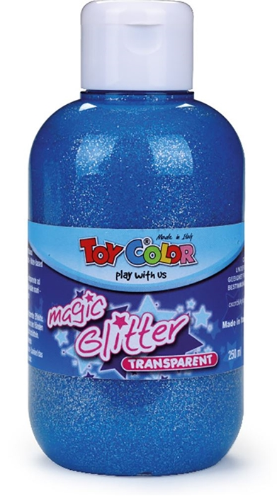 Slika od TOY COLOR glitter boja 250 ml - plava