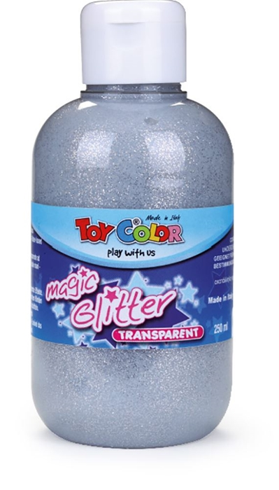 Slika od TOY COLOR glitter boja 250 ml - srebrna