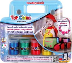 Picture of TOY COLOR tempera pearl effect - 5 color 25 ml