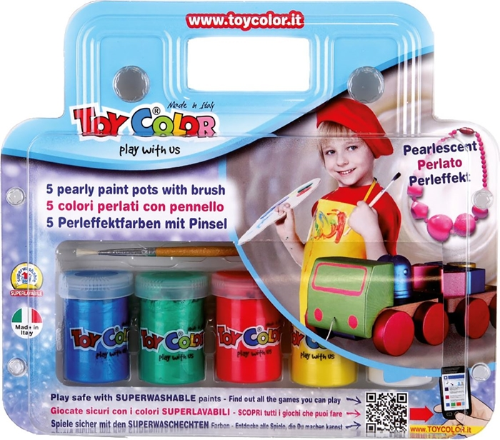 Slika od TOY COLOR tempera biserni efekt – 5 boja od 25 ml
