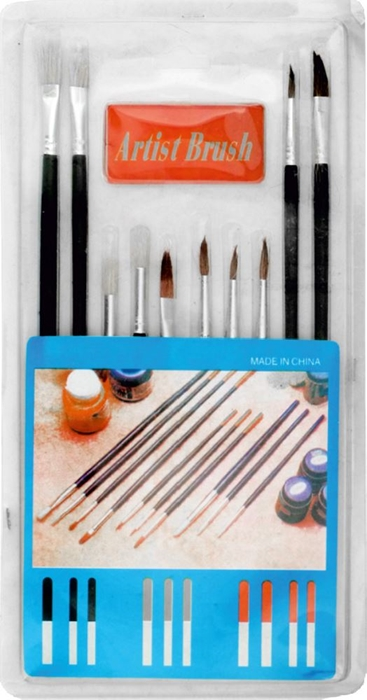 Picture of BRUSH SET for water and tempera paint 1-10