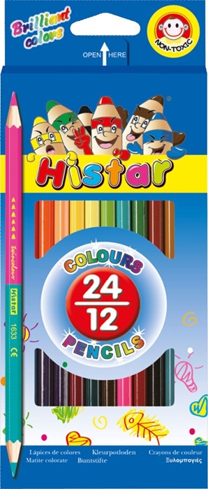 Picture of COLORED PENCIL hexagon two-tone 12-24