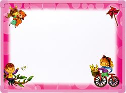 Picture of WHITE BOARD with accessories 40x32 cm