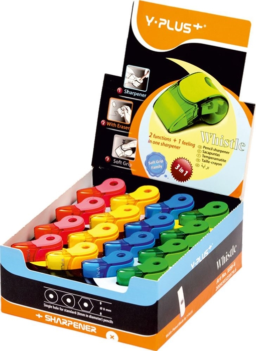 Slika od ŠILJILO s gumicom Whistle – izložbena kutija 32 kom
