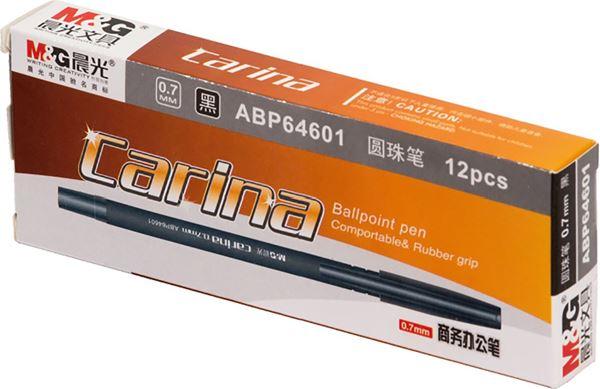 Picture of KEMIJSKA OLOVKA Carina – vrh 0,7 mm – gumirano tijelo – crna 1-12