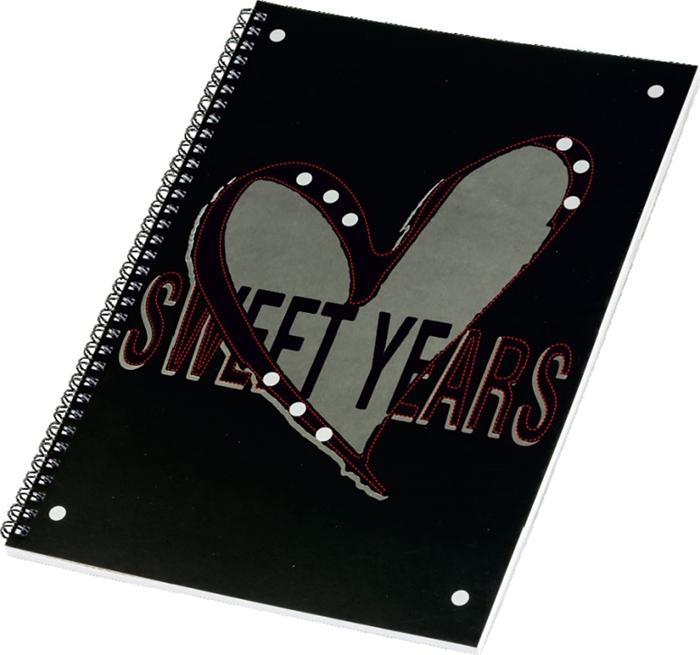 Slika od SWEET YEARS HEARTS spiralna bilježnica A4 crte – 60 listova
