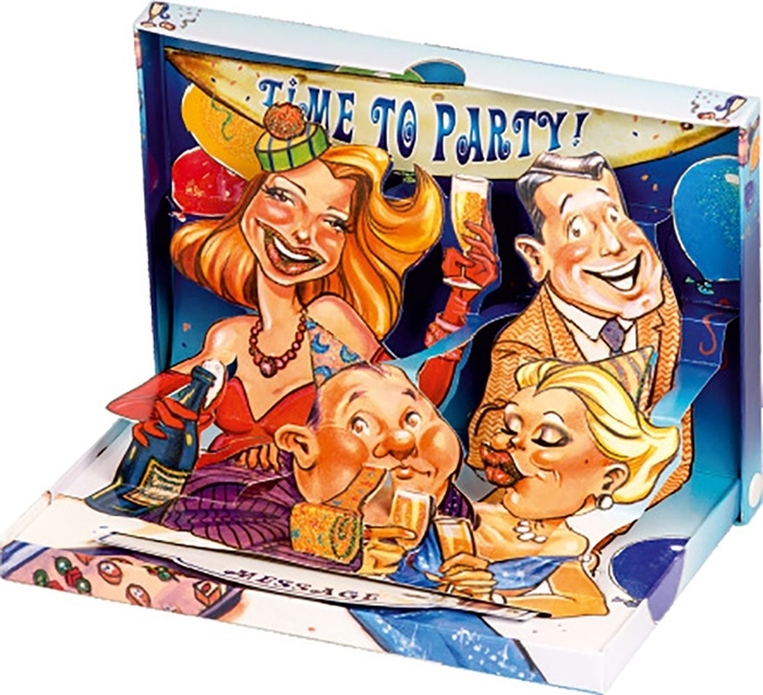 Picture of GREETING CARD 3 D Time to party