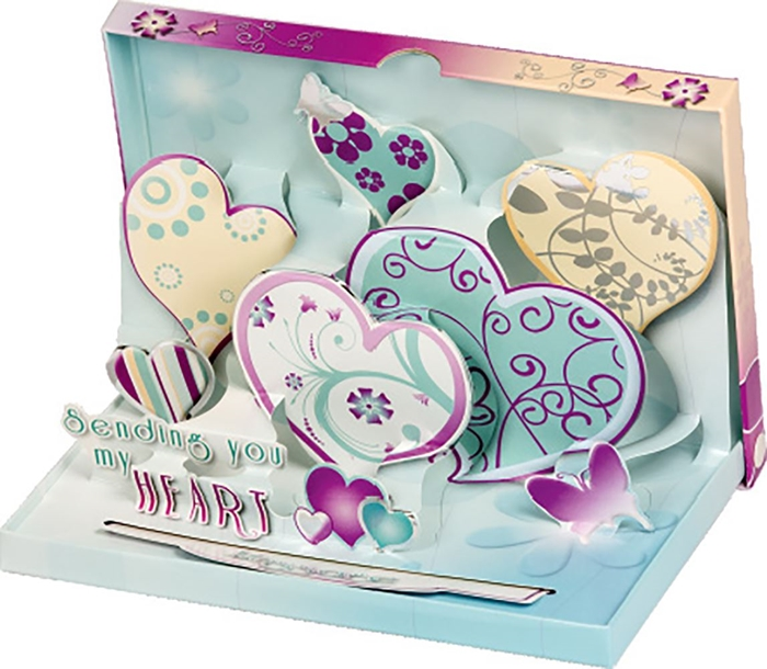 Slika od ČESTITKA 3 D A love note delivery