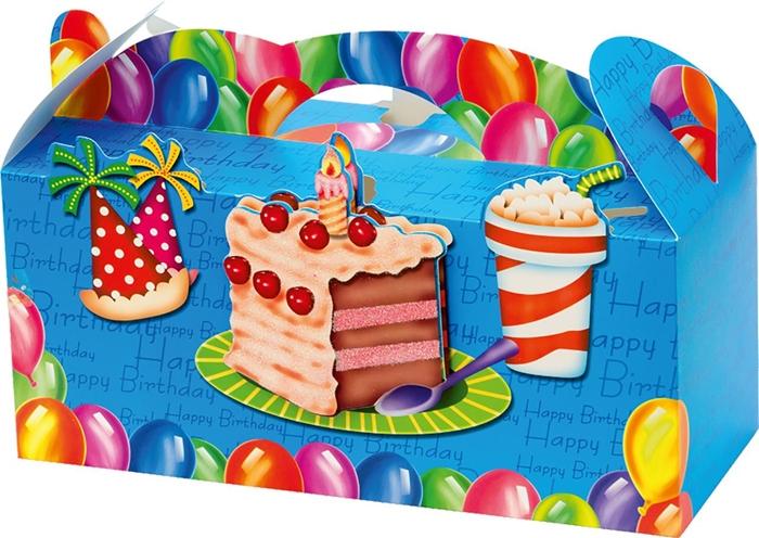 Slika od POKLON KUTIJA sklopiva Happy birthday glitter 3D 25x11x9,9 cm