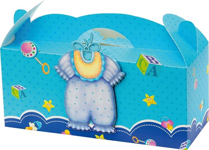 Slika od POKLON KUTIJA sklopiva baby glitter 3D 25x11x9,9 cm