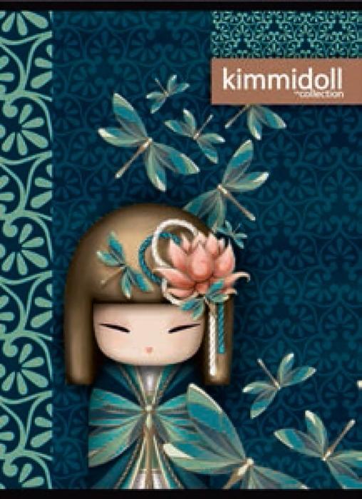 Slika od KIMIDOLL bilježnica A4 kocke, UV ili glitter detalji