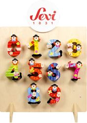 Picture of SEVI wooden numbers – set of 60 pieces