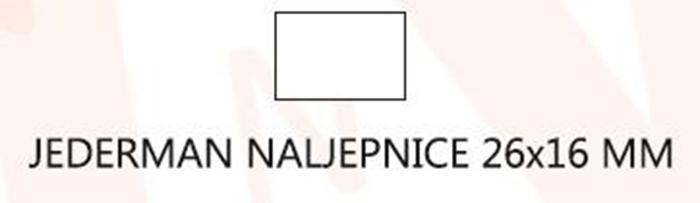 Slika od JEDERMAN naljepnice 26x16 mm – bijele