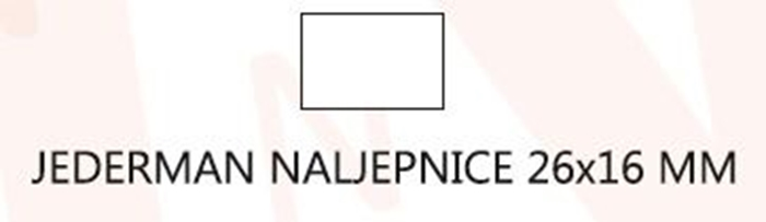 Slika od JEDERMAN naljepnice 26x16 mm – bijele odljepljive