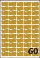 Slika od SAMOLJEPLJIVE etikete zlatne 36x21 mm – 25 listova, 60 na listu