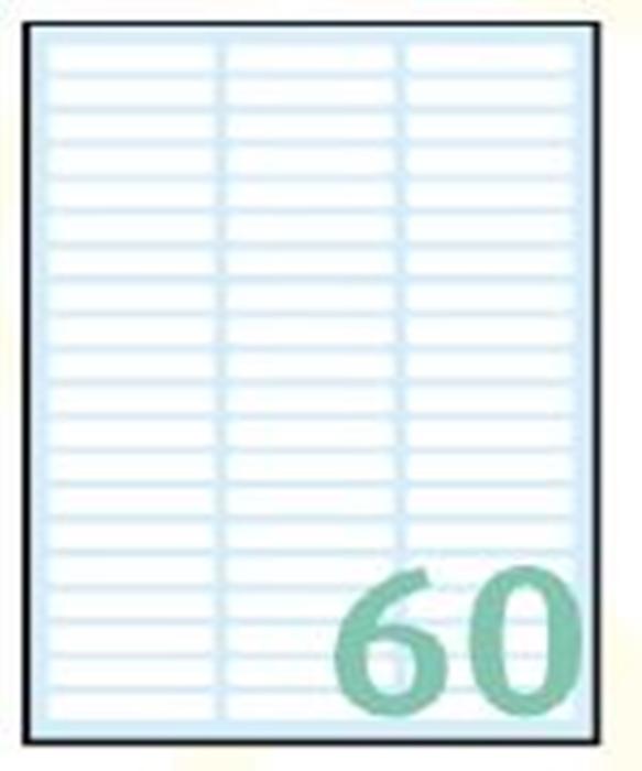 Slika od SAMOLJEPLJIVE etikete Export 35x5 mm – 10 listova, 60 na listu