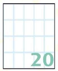 Slika od SAMOLJEPLJIVE etikete Export 36x22 mm – 10 listova, 20 na listu