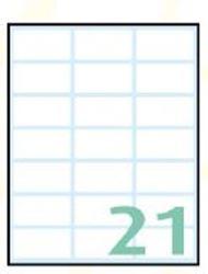 Slika od SAMOLJEPLJIVE etikete Export 38X19 mm – 10 listova, 21 na listu