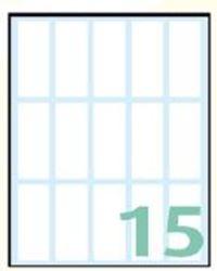 Slika od SAMOLJEPLJIVE etikete Export 48x20 mm – 10 listova, 15 na listu