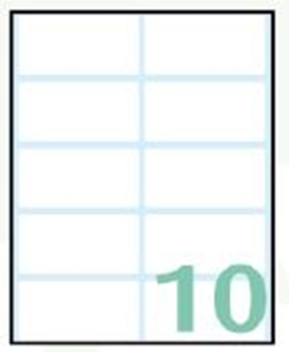 Slika od SAMOLJEPLJIVE etikete Export 58x28 mm – 10 listova, 10 na listu