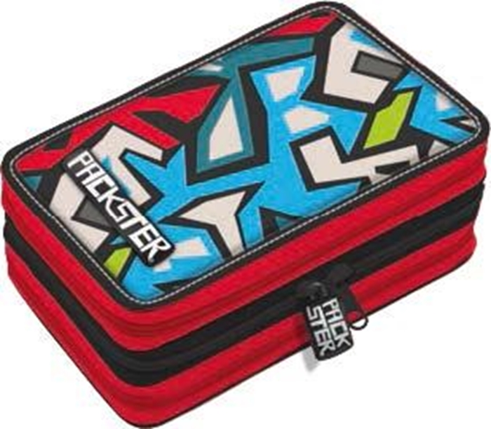 Picture of PACKSTER STREETtriple Filled Pencil Case
