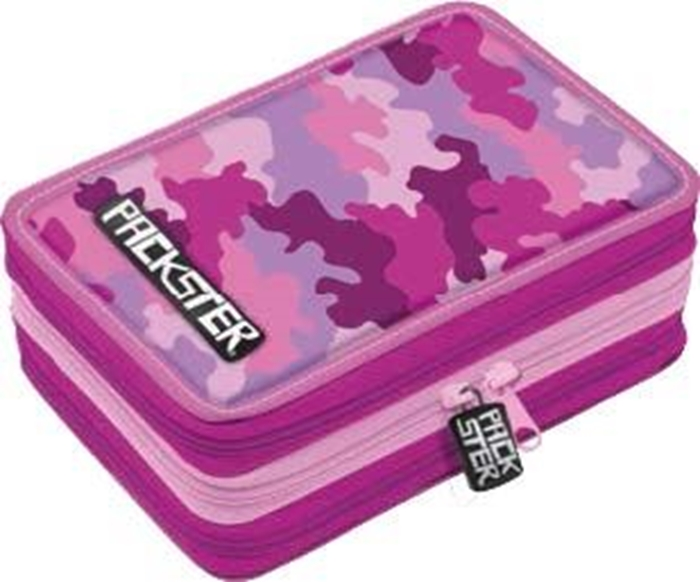 Picture of PACKSTER CAMOUFLAGE triple Filled Pencil Case