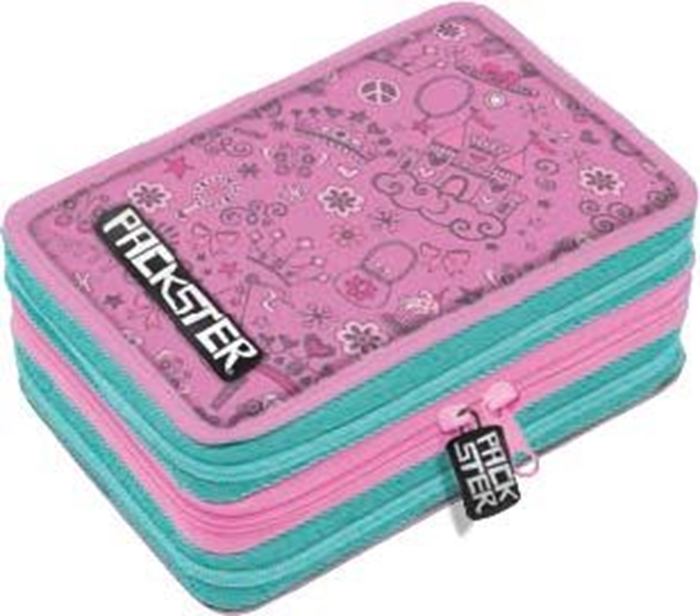 Picture of PACKSTER PRINCESS triple Filled Pencil Case