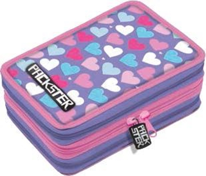 Picture of PACKSTER LOVE triple Filled Pencil Case