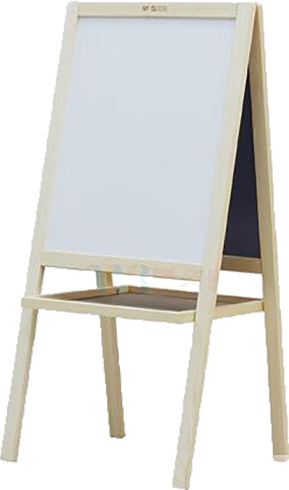 Slika od Bijelo/zelena ploča s drvenim okvirom 42x52cm