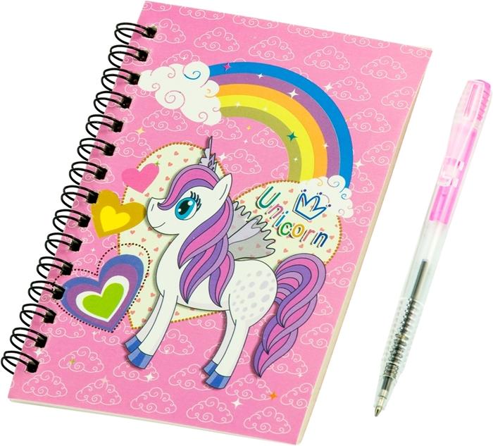 Slika od Spiralni blok s olovkom Unicorn