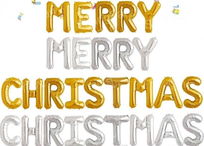 Picture of Natpis 'Merry Christmas' - Srebrni