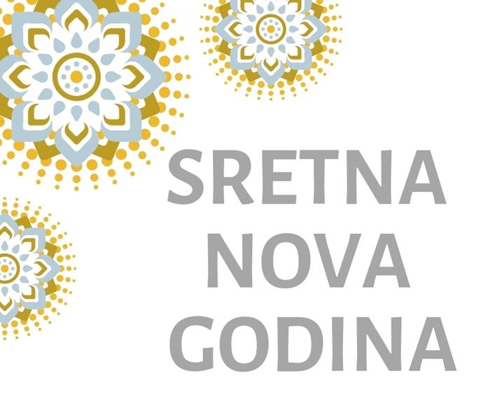 Picture of Natpis 'Sretna Nova Godina'' - Srebrni