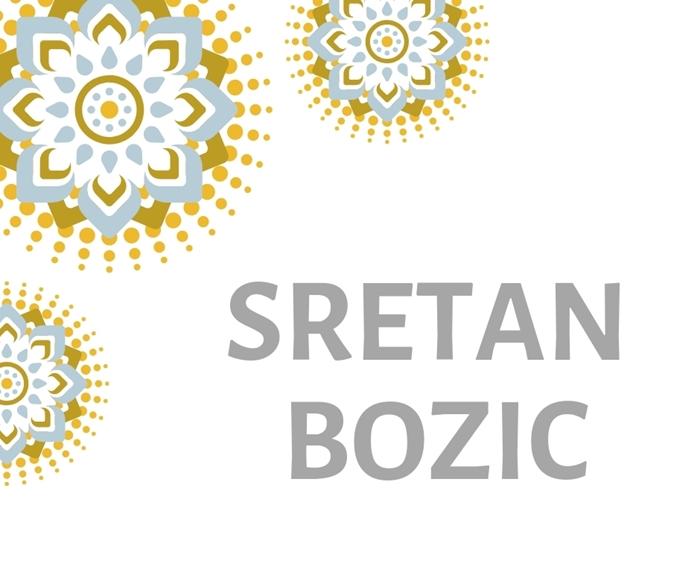 Picture of Natpis 'Sretan Bozic'' - Srebrni