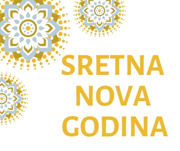 Picture of Natpis 'Sretna Nova Godina'' - Zlatni