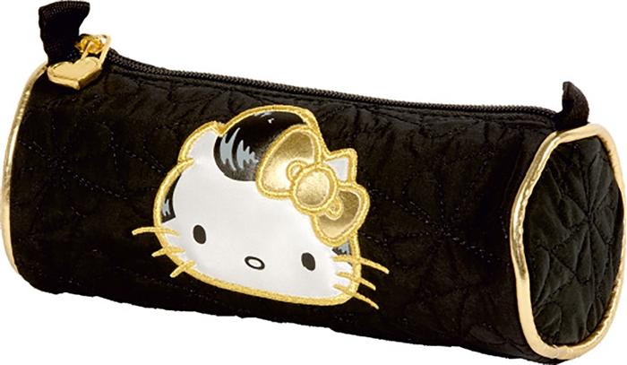 Slika od HELLO KITTY GOLD okrugla prazna pernica.